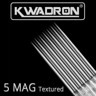 "5 MGLT-T/0,35 mm - Magnum/M1 long taper - Textured ""Иглы - Kwadron"""
