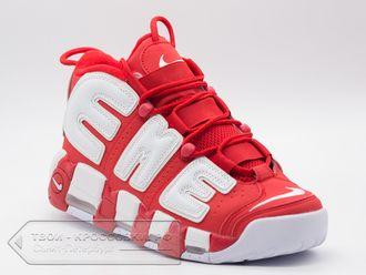 51389137 Кроссовки Nike Air More Uptempo Supreme красные мужские арт. N387