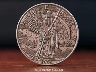 The Walking Reaper Silver Finish Coin