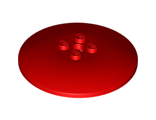 Dish 6 x 6 Inverted (Radar) - Solid Studs, Red (44375b / 6156534)