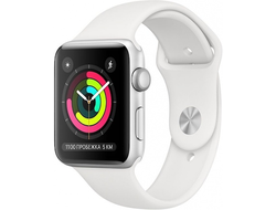 APPLE WATCH SERIES 3 38MM SILVER ALUMINIUM WITH WHITE SPORT BAND