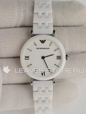 часы армани женские керамика белые One Men Show