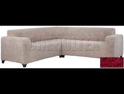 Чехол Велсофт на угловой диван, цвет Бордовый