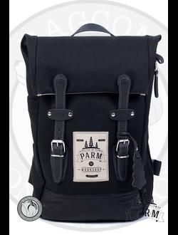 caf48f3621df Рюкзак ручной работы Parm City Travel черного цвета