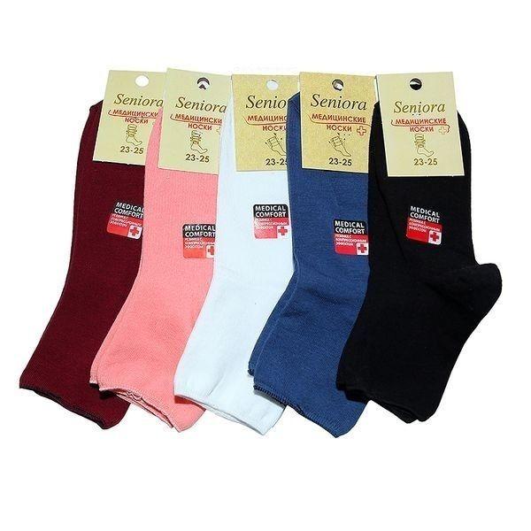 Senior носки женские медицинские хлопок с лайкрой с ослабленной резинкой Арт. МН-1, 10 пар (1 упаковка)