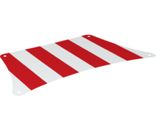 Cloth Sail 33 x 17 Top with Red Thick Stripes Pattern, White (69263 / 6314372)