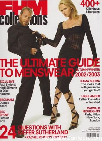 FHM Collection Magazine Issue 9 Autumn-Winter 2003 Kiefer Sutherland, Rachel Roberts Cover