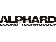 Наклейка на авто  Alphard Sound Technnology