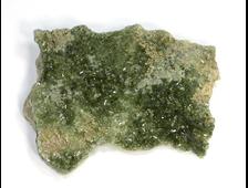 Везувиан, кристаллы на породе, Россия, Урал (60*46*8 мм, 29 г) №21844