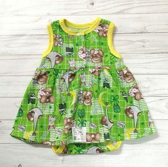 Боди- платье (Артикул 676-С) цвет зеленый