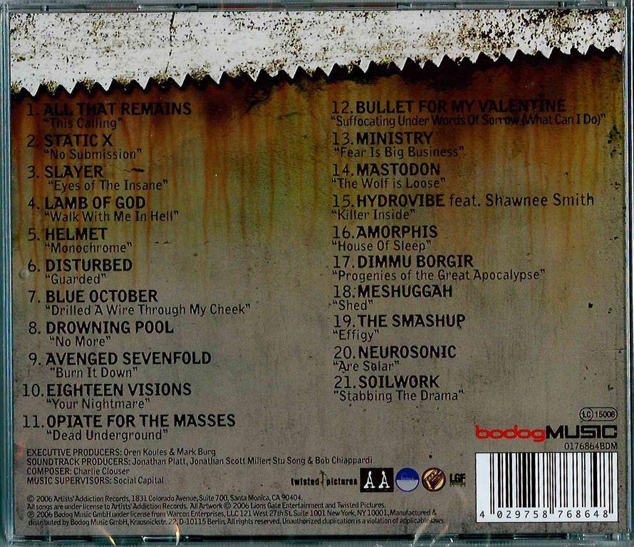 Купить CD SAW III - Original Motion Picture Soundtrack в