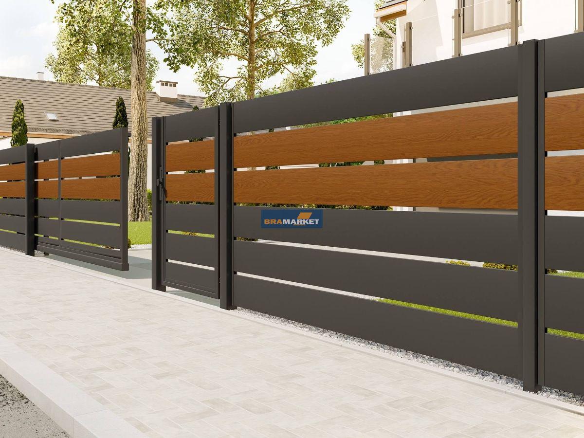 заказать автоматику из Италии-установка привода на уличных воротах