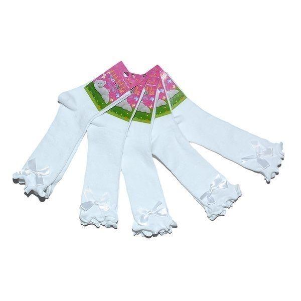 Лив гольфы детские хлопок с лайкрой ажурные белые с бантиком Арт. П99Ж, 10 пар (1 упаковка)