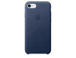 Чехол для iPhone Apple iPhone 7/8 Leather Midnight Blue (MQH82ZM/A)