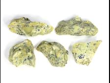Опал желтый дендритовый в ассортименте, Казахстан (25-40 мм, 6-8 г) №22911