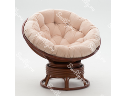 Кресло Swilly Swivel Papasan 1 орех