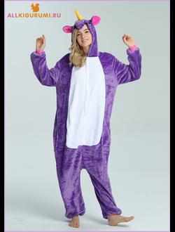 кигуруми фиолетовый единорог купить 43fff77fc7448