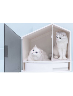 Домик для кошек с туалетом Xiaomi Furrytail house cat litter pot semi-closed stinking