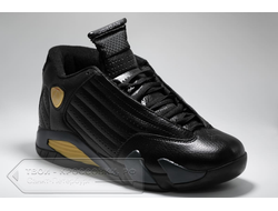 Кеды Air Jordan XIV OG Black/Yellow мужские арт. N786