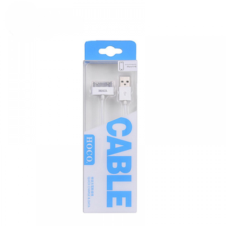 USB кабель HOCO (Original) UP301 для iPhone 4/4s 30Pin 1,2м. Цвет: Белый