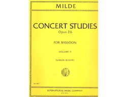 Milde, Ludwig Concert Studies op.26 vol.2 : for bassoon