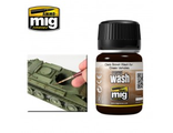 "Ammo MIG: Смывка ""Dark Brown Wash for Green Vehicles"" (35 мл.)"