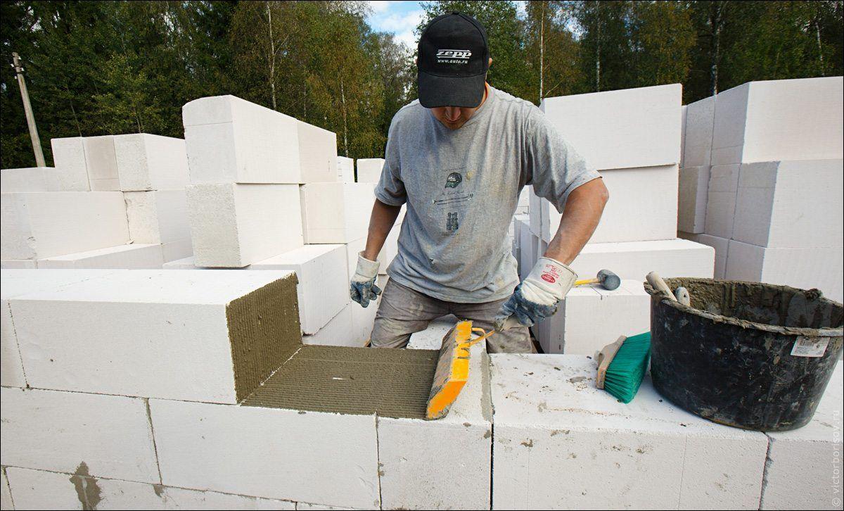 построить дом из пеноблоков бригада