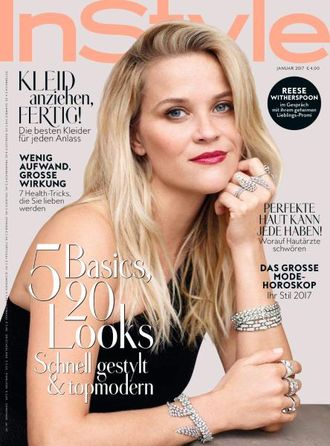 Instyle Germany Magazine January 2017 Reese Witherspoon Cover ЖЕНСКИЕ ИНОСТРАННЫЕ ЖУРНАЛЫ, INTPRESS