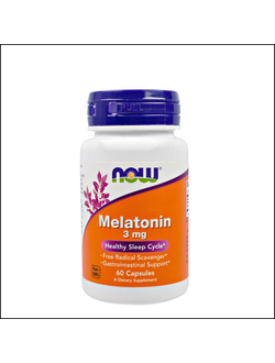 Мелатонин Now Melatonin 3 mg 60caps
