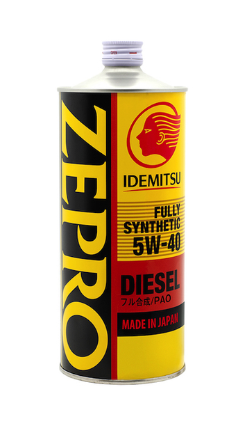 Idemitsu 5W-40 CF Fully Synthetic Zepro Diesel