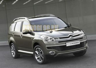 Пороги на Citroёn C-Crosser(2007-2013) Black Start