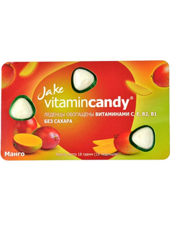 МАНГО, Jake vitamincandy®, 1 блистер