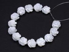 Бусины Перламутр, роза 9*6 мм (1 шт) №17284
