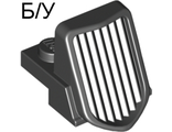 ! Б/У - Vehicle, Grille 1 x 2 x 2 2/3 Sloping with Chrome Outline Pattern, Black (50946pb01 / 4246939) - Б/У