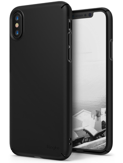 Чехол на Apple Iphone X, Ringke серия Slim, цвет черный (Black)