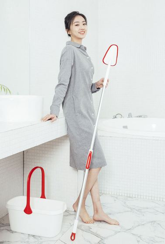 Швабра Xiaomi cleaning brush YB-02 red gray
