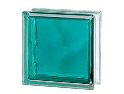 Cтеклоблок Vetroarredo BRILLY TURQUOISE 1919/8 WAVE (Италия)
