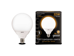 Gauss LED G125 22w 830/840 E27