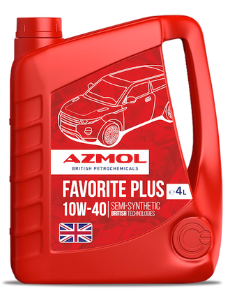 Масло моторное AZMOL Favorite Plus 10W40 SL/CF 4л. п/синт. (4)