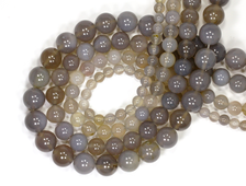 Бусина Агат серый, шар 6 мм, Ботсвана (1 шт) №14420