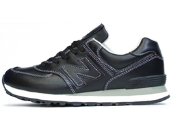 Унисекс New Balance 574 Leather Black