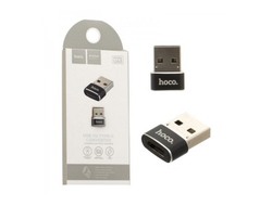 Переходник Hoco UA6 USB to Type-C (black)
