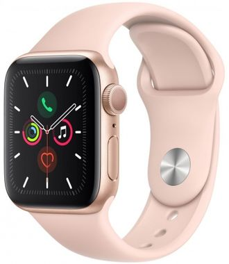 Apple Watch Series 5 44mm Gold Aluminium / Pink Sport Band