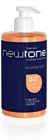 Тонирующая маска для волос NEWTONE 10/45, светлый блондин медно-красный
