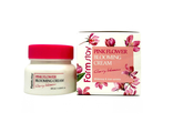 Крем для лица с экстрактом цветов вишни Farmstay Pink Flower Blooming Cream Cherry Blossom