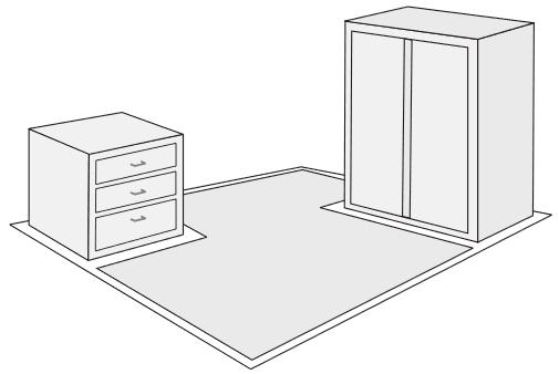 Пример площади укладки теплого пола