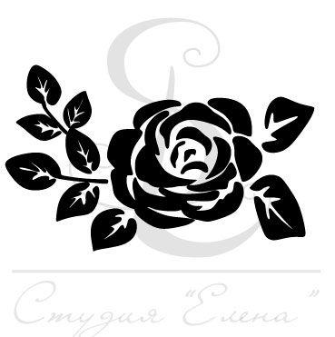 Штамп с округленным силуэтом розы