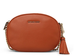 Клатч Michael Kors Ginny Medium Leather Crossbody (Оранжевый)