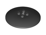 Dish 6 x 6 Inverted (Radar) - Solid Studs, Black (44375b / 6058341)