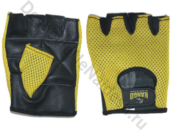 Перчатки для фитнеса Kango WGL-074 Black/Yellow